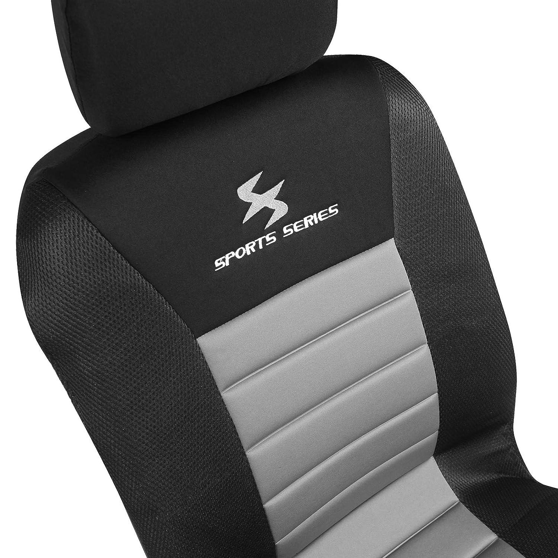 WOLTU AS7254-7 7er Einzelbezug vordere Sitzbezug f/ür Autositz ohne Seitenairbag