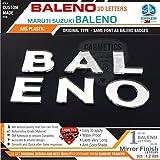 Carmetics Baleno 3D Letters For Maruti Suzuki Baleno (Standard,Multi Colored)