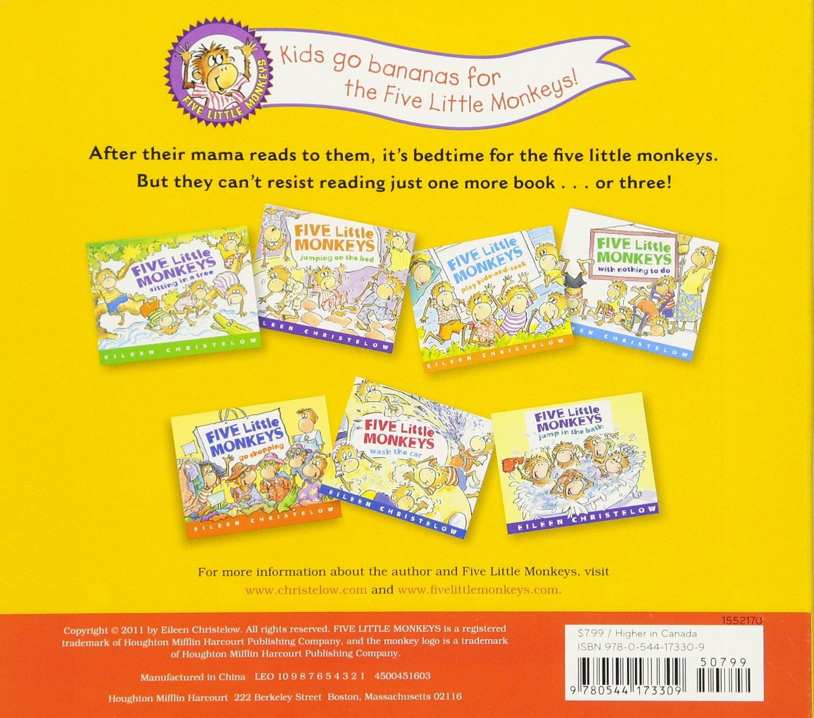 Five Little Monkeys Reading in Bed: Amazon.es: Christelow, Eileen ...