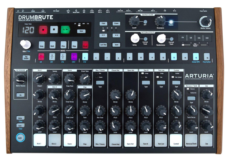 Arturia DrumBrute Analog Drum Machine, Black by Arturia
