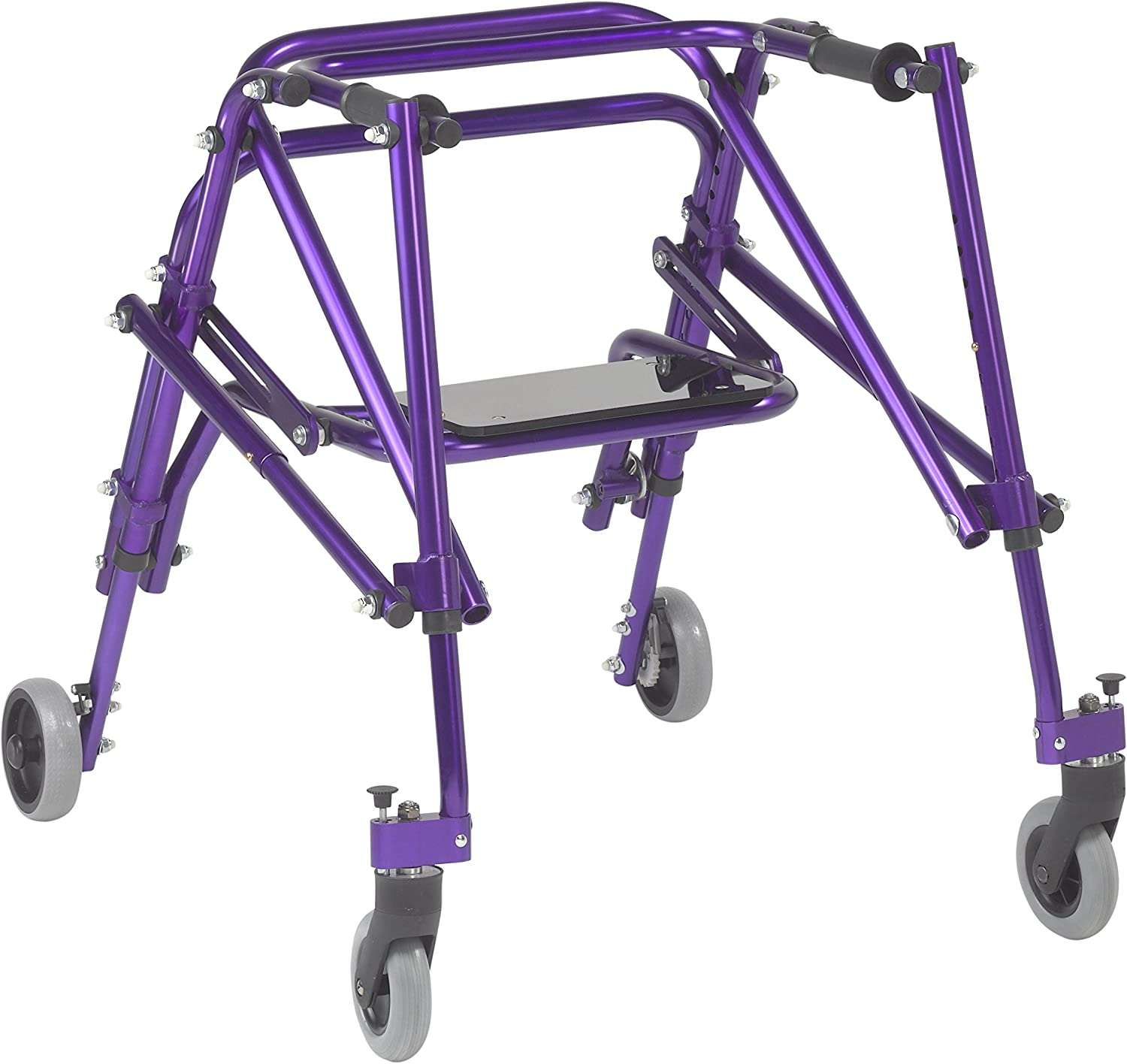 Inspired by Drive Nimbo 2G Lightweight Posterior Walker with Seat, Wizard Purple, Medium