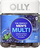 OLLY Perfect Men's Multi-Vitamin Gummy Supplements, Blackberry Blitz, 90 Count