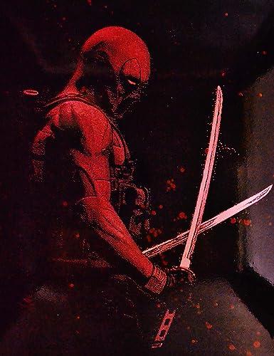 Deadpool Metal Poster splatter spray paint art marvel