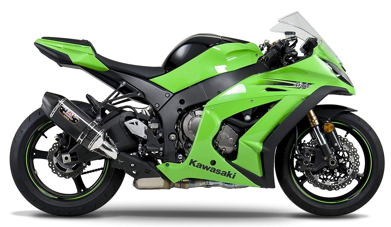 Yoshimura 11-15 Kawasaki ZX10R R-77D Dual Outlet Slip-On Exhaust (Street/Carbon Fiber)