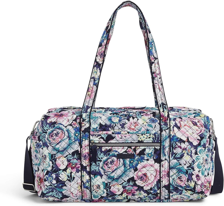 Vera Bradley Women's Signature Cotton Medium Travel Duffel Travel Bag, Garden Grove, One Size