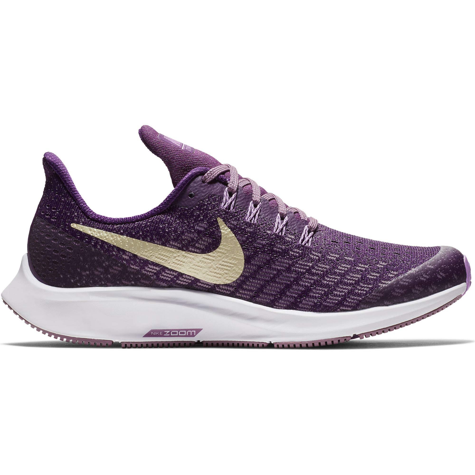 Nike Girl's Air Zoom Pegasus 35 Running Shoe Night Purple/Metallic Gold Star/Violet Dust Size 1 M US