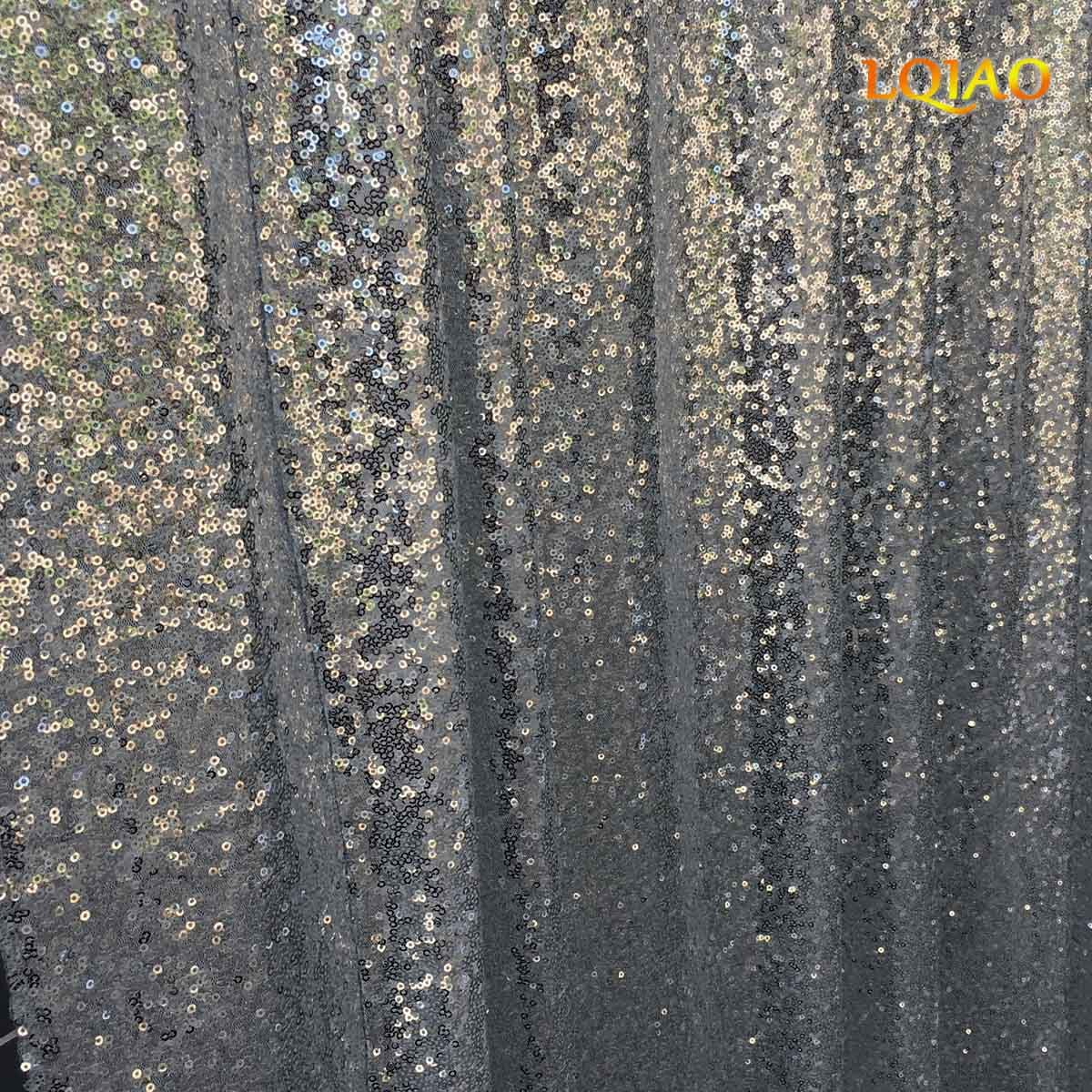 LQIAO 20x10ft-Sequin Backdrop Silver Sequin Curtain Photography Booth Backdrop for Wedding/Party Decoration(600x300cm)