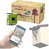 Green Feathers WiFi Bird Box Camera - HD with IR, MicroSD Recording, View directly on mobile phone or tablet