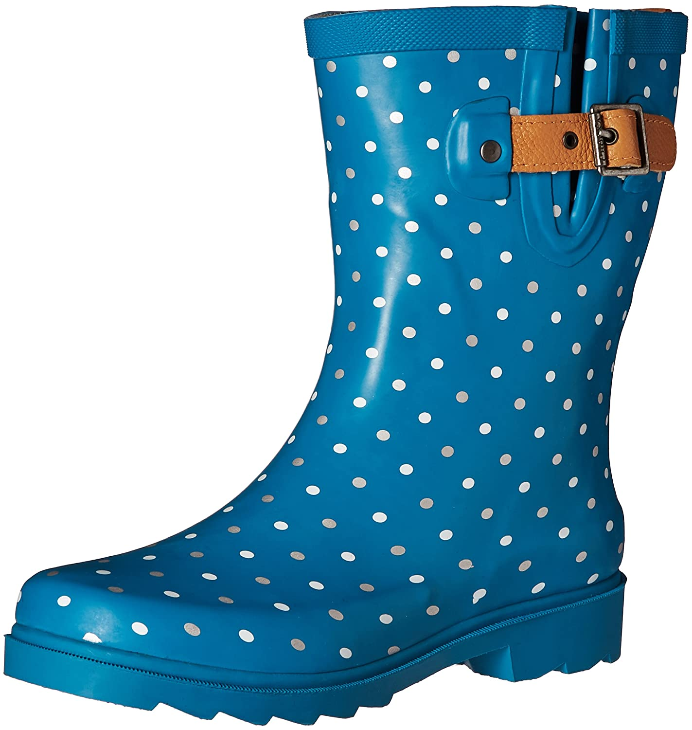 Chooka Women's Classic Dot Mid Calf Rain Boot - Polka Dots