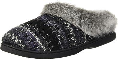 Dearfoam Clog Slippers Women/'s Indoor//Outdoor Knit Dye Cream Size Small 5-6