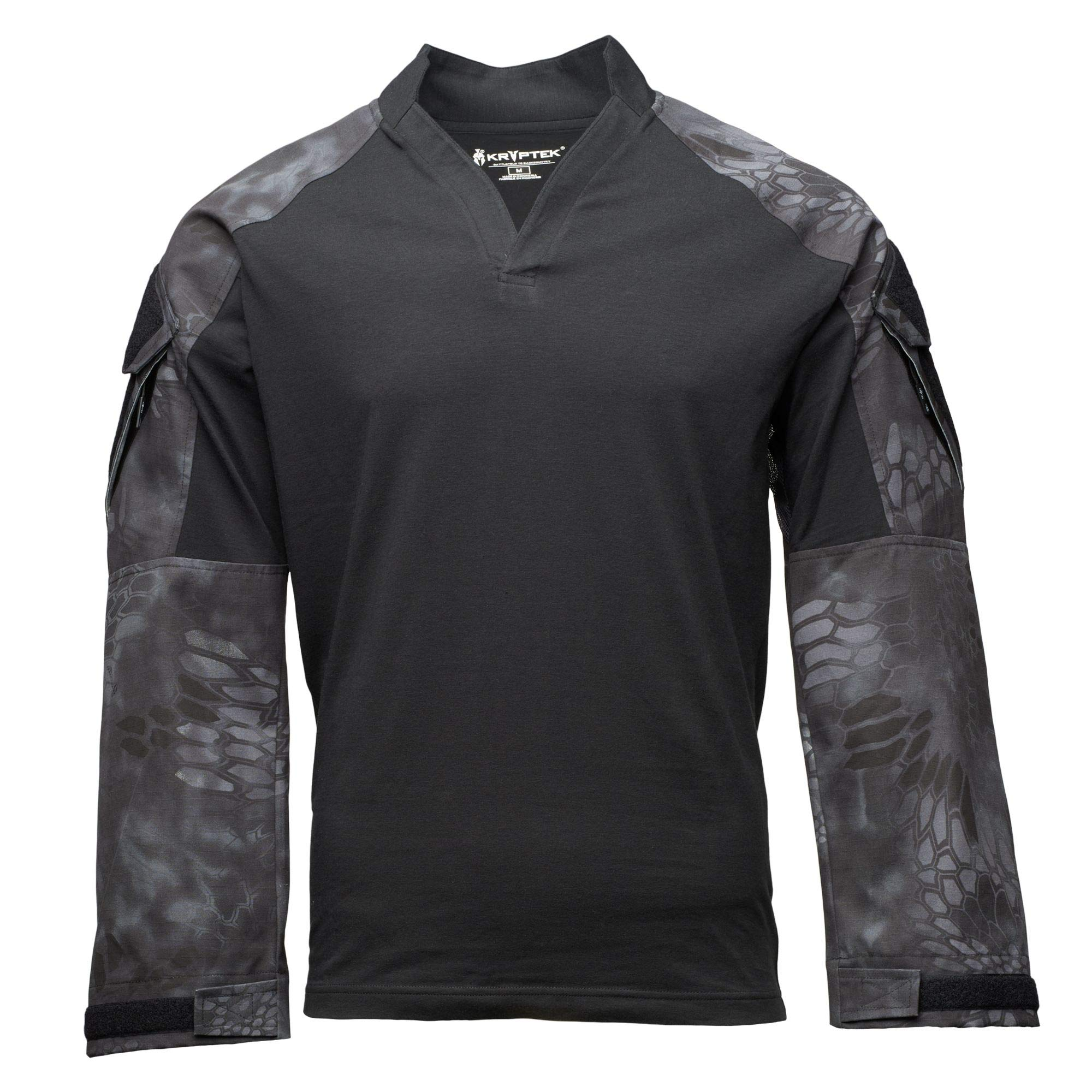 Kryptek Tactical LS Rugby Long Sleeve Shirt (Tactical Collection), Black/Typhon, L by Kryptek