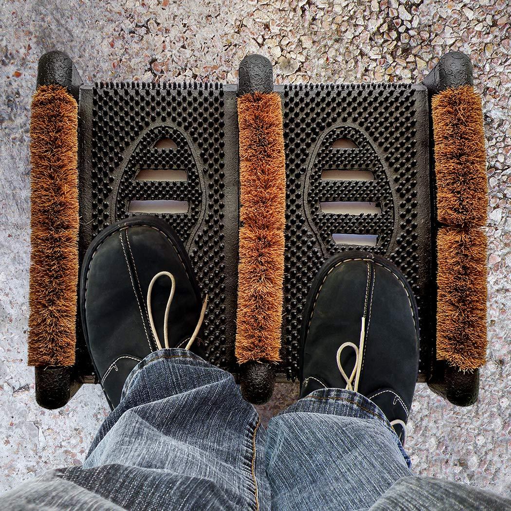 Scrub /& Scrape Muddy Shoes Ninamar Mud Scrubber Rubber Brush Mat