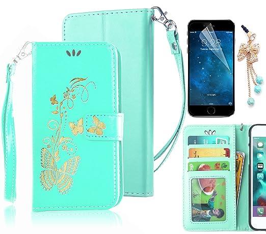 2 opinioni per Sunroyal® Custodia per Samsung Galaxy S6 Edge G925, Flip Portafoglio Wallet