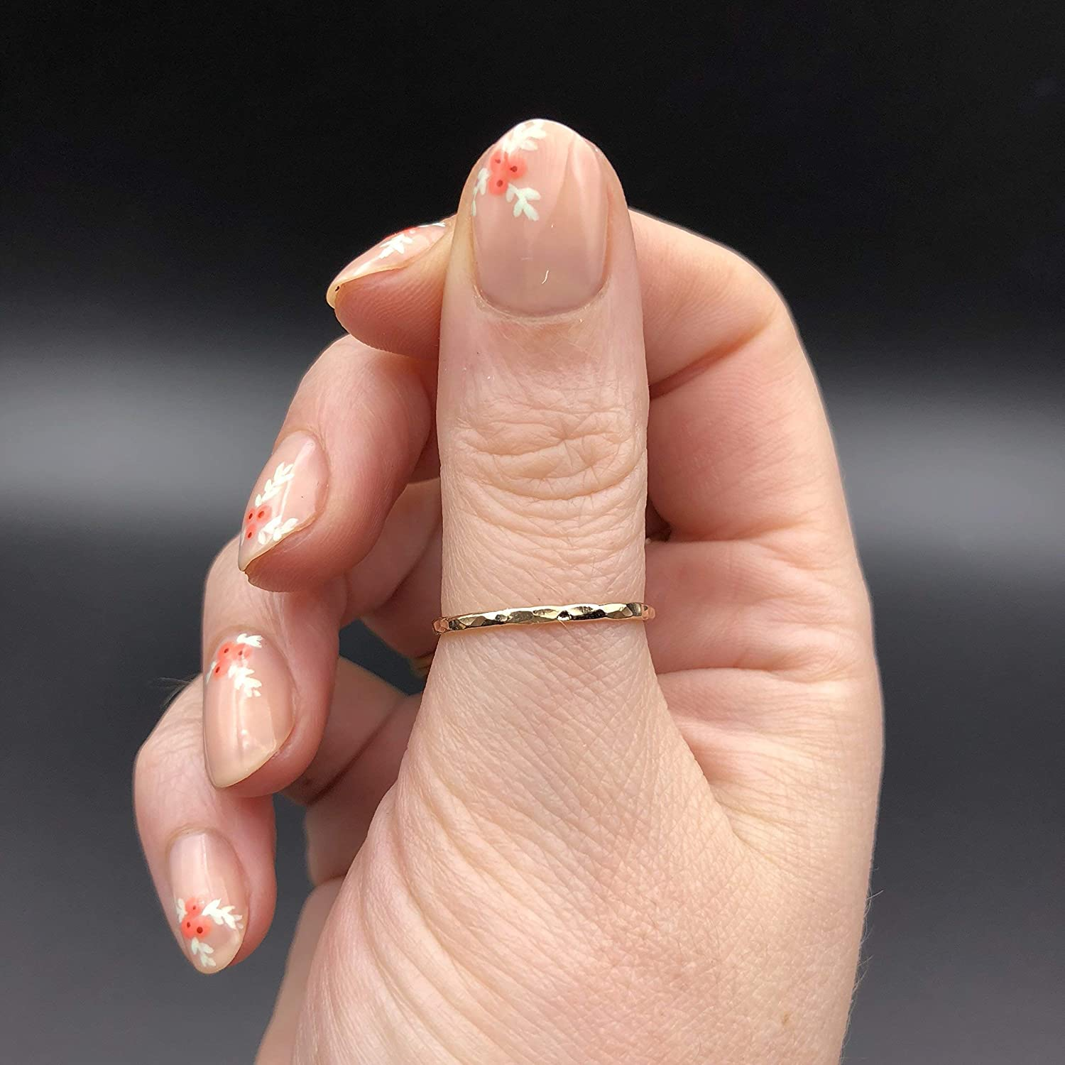 Dainty Little Plain Band Size 4 Gold Thumb Ring