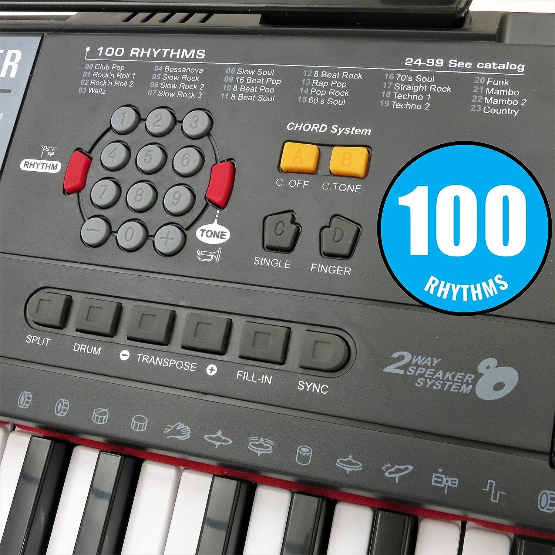 amazon com plixio 61 key electric piano keyboard with music sheet
