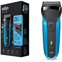 Braun Series 3 310 s Wet & Dry - Afeitadora eléctrica para hombre recargable, máquina de afeitar barba, color azul