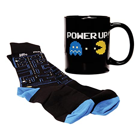 Amazon.com: Pac Man taza y calcetines Gift Set – Pacman ...