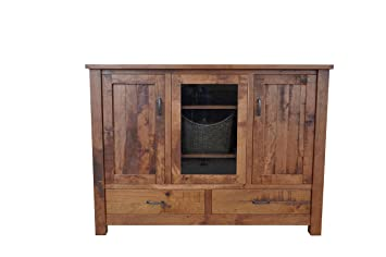Rustic Entertainment Center Barn Floor Top 5 Foot Amish Made Custom  Available Rustic Entertainment Center73