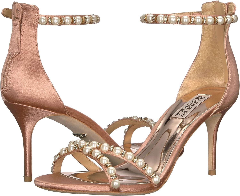 Badgley Mischka Womens Hannah Imitation Pearl Sandals