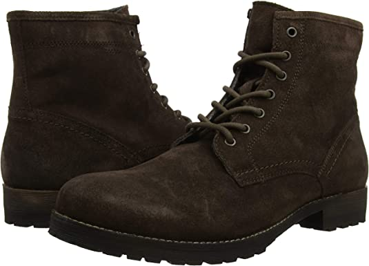 Red Tape Men/'s Toft Suede Waxy Wood 7 Eyelet Ankle Leather Boot