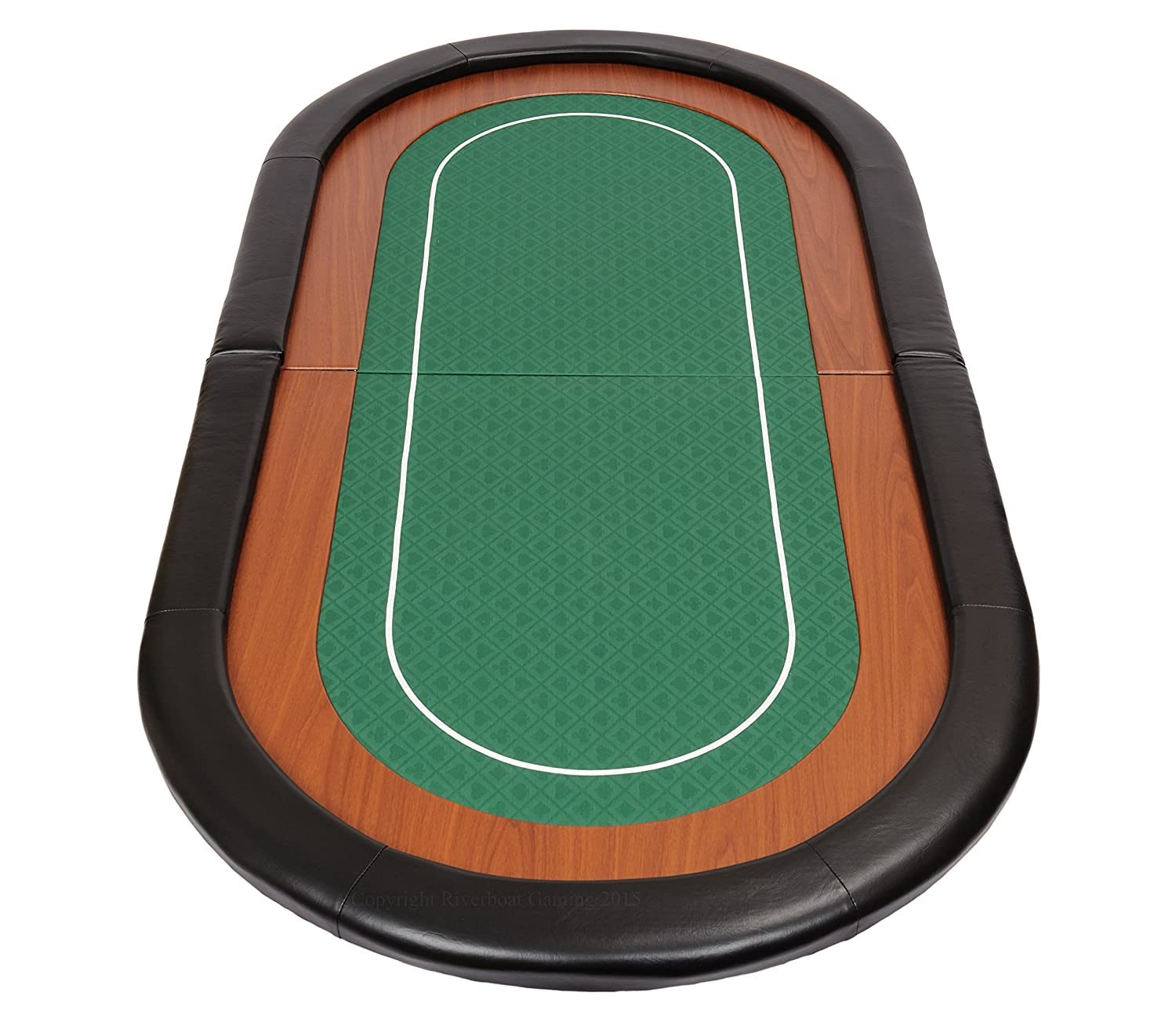 Champion Folding Poker Table Top in Green Speed Cloth and Faux