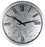 "About Time Galvanised Outdoor Garden Clock - 35cm (13.8"")"