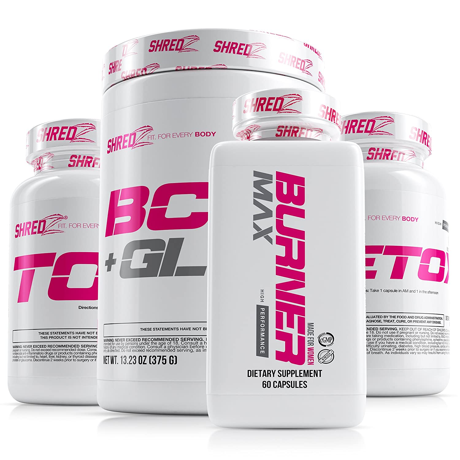 Shredz 30 Day Weight Loss Results Supplements Stack For Women Clinically Tested Ingredients Burner