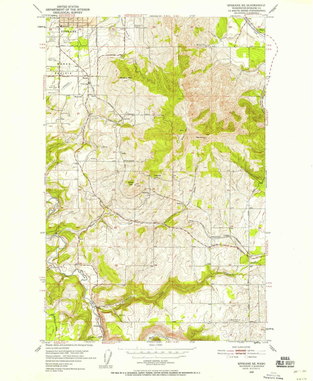 Se Dc Map.Amazon Com Yellowmaps Spokane Se Wa Topo Map 1 24000 Scale 7 5 X
