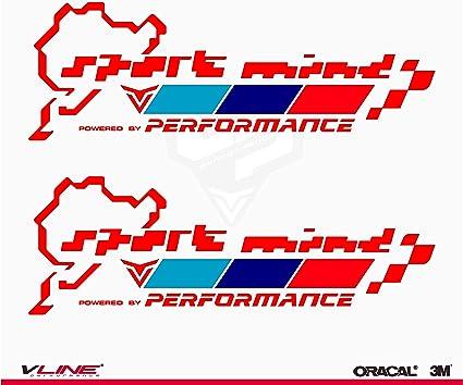 Provinyl Pegatinas Sport Mind Nürburgring Performance Compatible para BMW, 2 Unidades de 20 x 6,8 cm (Rojo): Amazon.es: Coche y moto