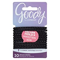 Deals on 10-Count Goody Hair SlideProof Hair Tie Elastics, 4mm