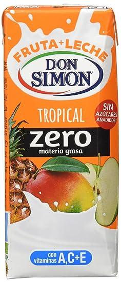 Leche Fruta Don Simon - Bebida refrescante mixta de zumo de frutas y leche tropical,