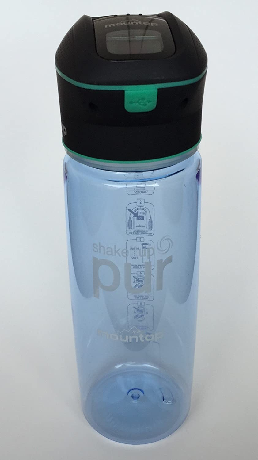 YouWanIt ShakeItUp PUR UV Purification Water Bottle, Portable 750 ML Bottle Purifier. UV Cap LED Display Sterilizes Water in 90 Seconds. Also a Cool Camp lamp.
