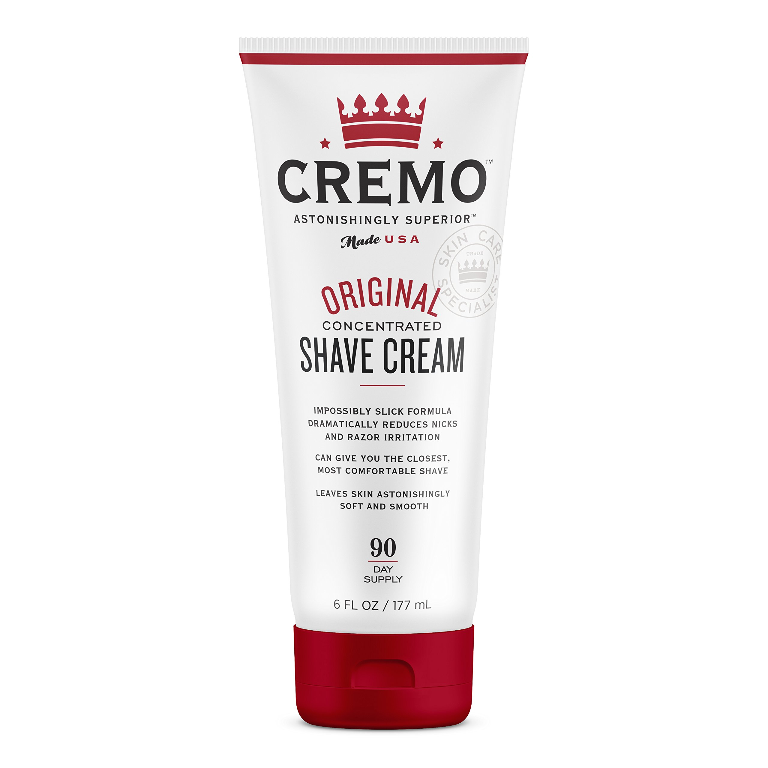 Cremo Original Shave Cream, Astonishingly Superior Smooth Shaving Cream Fights Nicks, Cuts And Razor Burn, 6 Ounces