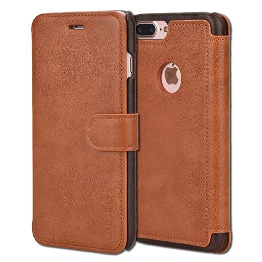 11 opinioni per Custodia iPhone 7 Plus- Cover iPhone 7 Plus- Mulbess Custodia In Pelle Con Flip