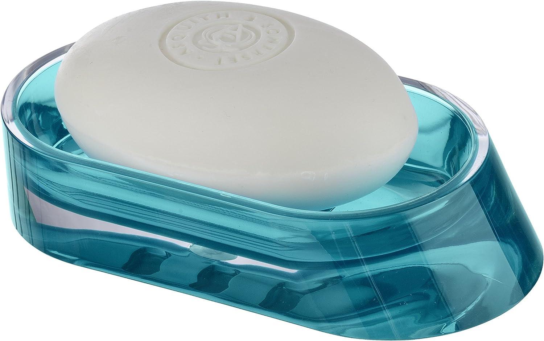 Badserie LAGUNA Türkise Transparente Seifenschale Seifenteller Seifenablage