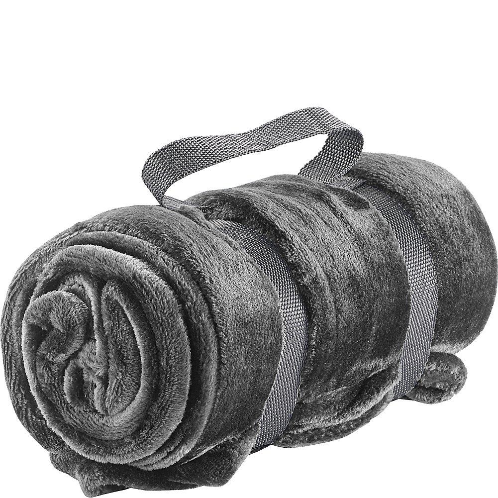 Lewis N. Clark Plush Travel Blanket, Black