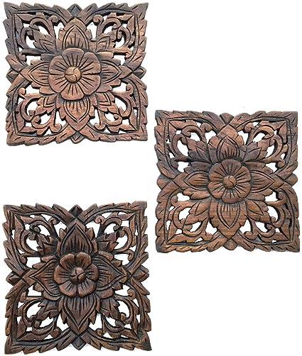Floral Wood Wall Decor Bronze Wall Decor Web Specials