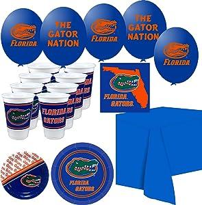 Westrick Florida Gators Party Supplies - Serves 16 (70 Pieces)