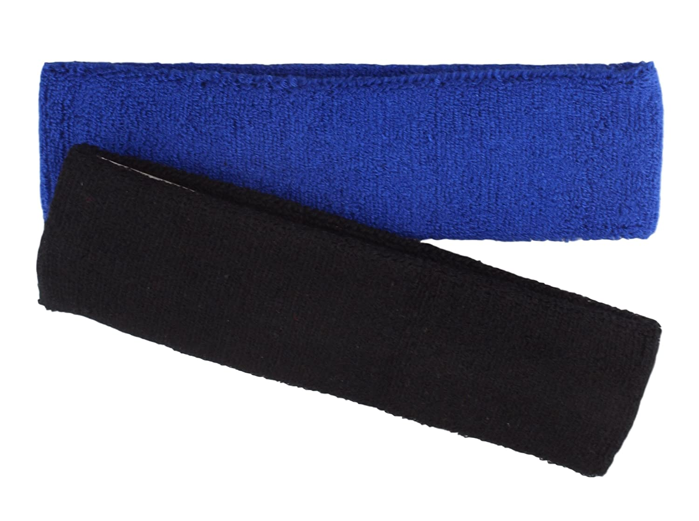 Fascia sportiva per capelli in 5colori 2er Pack schwarz/royal unica stb-2012