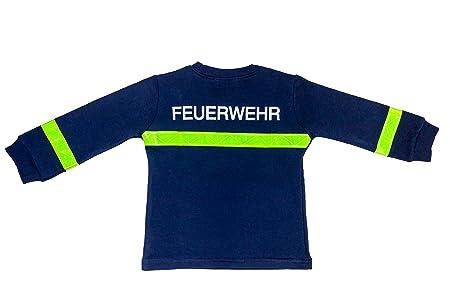 Pijama/Pijama/bombero de bomberos para niños azul Diseño Largo amarillas reflectores 100% algodón Comercio Justo Ringel SuSE azul azul Talla:104/110: ...