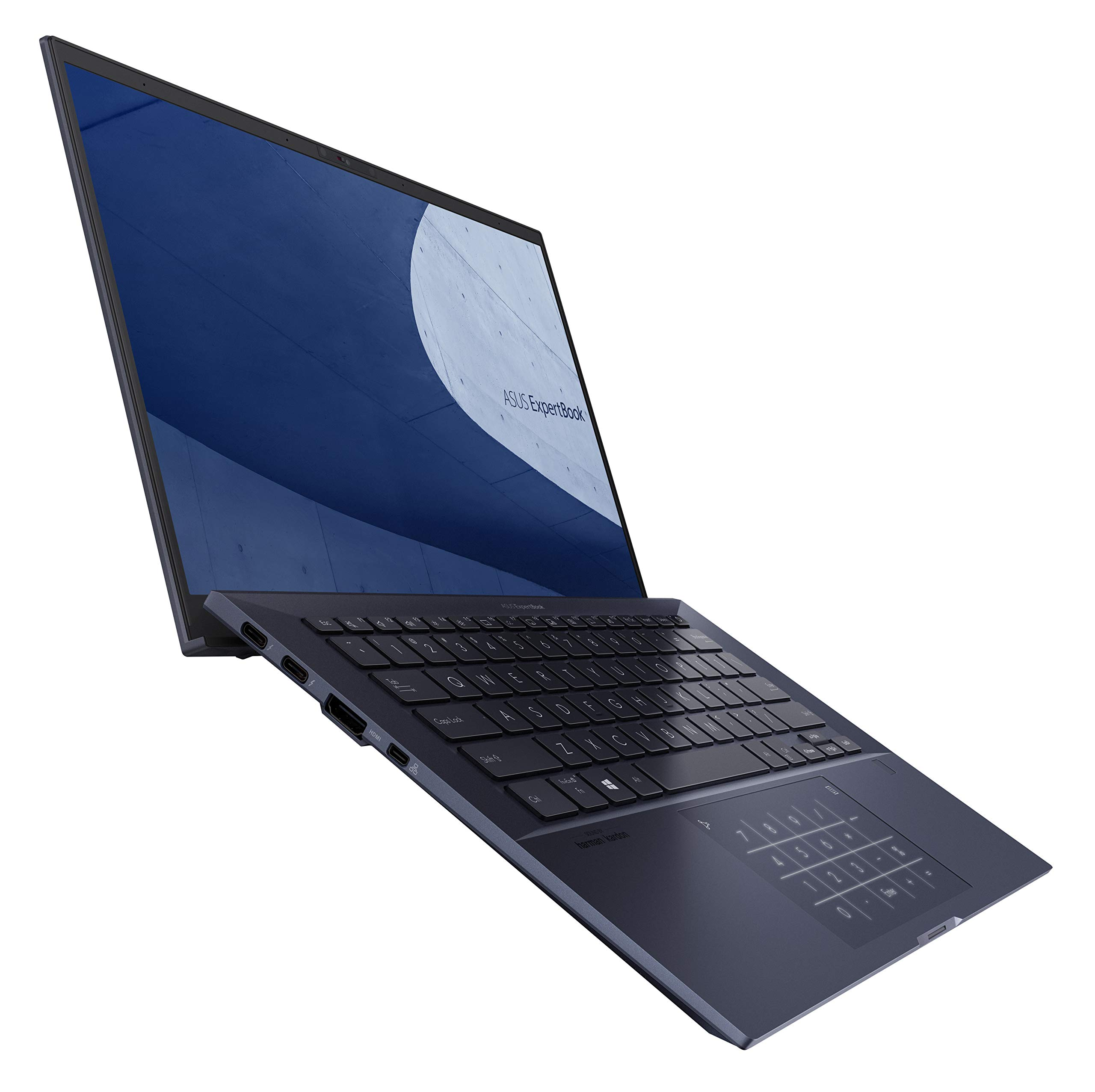 """ASUS ExpertBook B9 Thin Light Business Laptop 14"""" FHD Intel Core i7-10510U 512GB SSD 16GB RAM Military Grade Durable Up to 24hr Battery Webcam Privacy Shield Win 10 Pro Black B9450FA-XS74"""