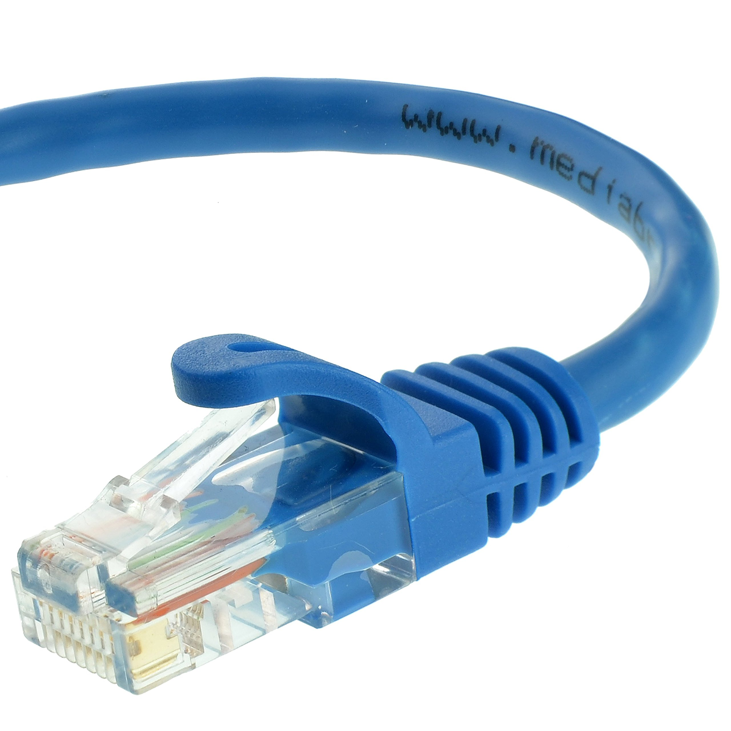 Mediabridge Ethernet Cable (50 Feet) - Supports Cat6 / Cat5e / Cat5 Standards, 550MHz, 10Gbps - RJ45 Computer Networking Cord (Part# 31-399-50X) by Mediabridge