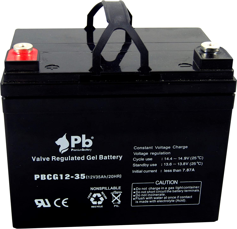 Premiumbattery Batería cíclica PBCG12-35 12V 35Ah GEL