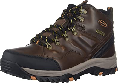 Mens Skechers 65529 Relment Traven Sporty Lace Up Boots in Brown
