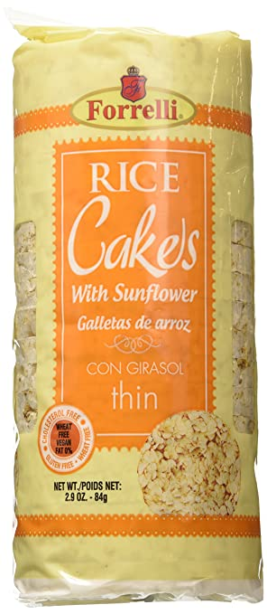 Forrelli Rice Cakes with Sunflower 2.9 Oz (2)