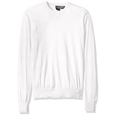 A|X Armani Exchange Men's Long Sleeve Crew Neck Pullover Knit Slim Fit: Clothing