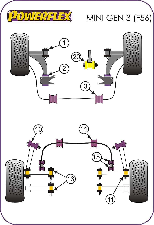 PFF5/ /1301/g Powerflex anteriore boccole braccio anteriore regolabile camber Road 2/in box