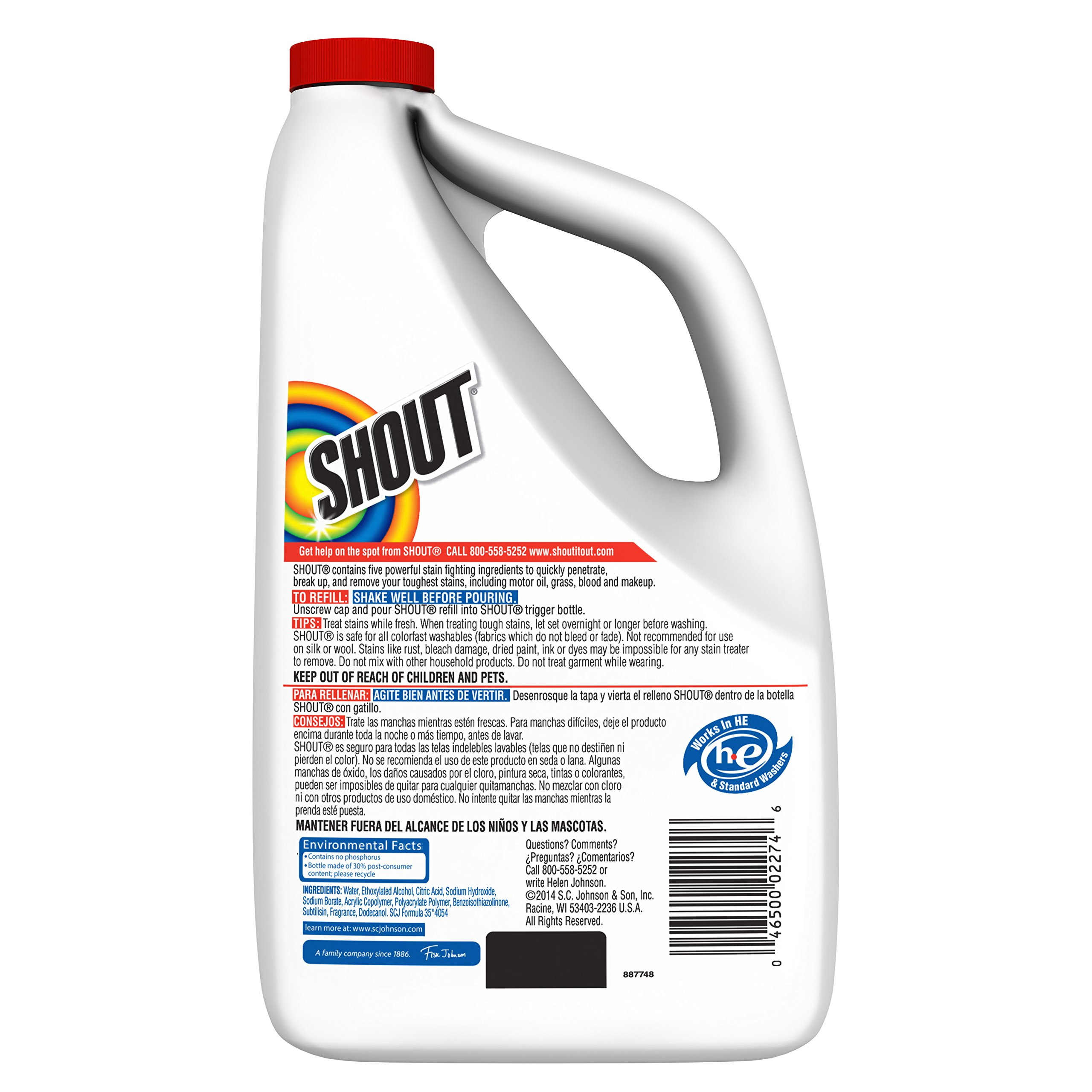 Shout Triple-Acting Liquid Refill 60 fl oz. (Pack of 6) by Shout (Image #2)