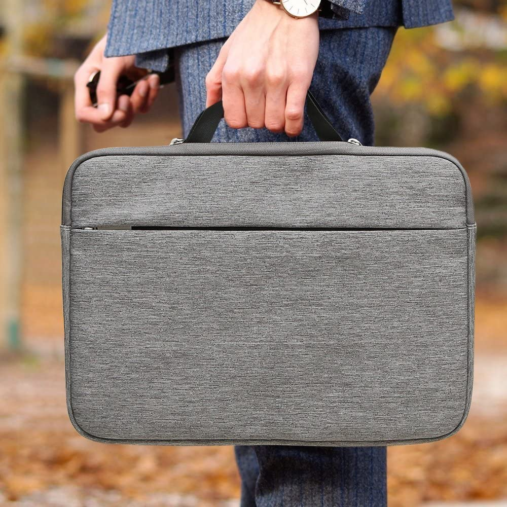 Pochette Rembourr/é PC Portable Netbook Ultrabook Sacoche Laptop Housse de Protection Ordinateur avec Bandouli/ère et Ceinture /à Bagage Gris Clair AtailorBird Sacoche Ordinateur 15.6 Pouces