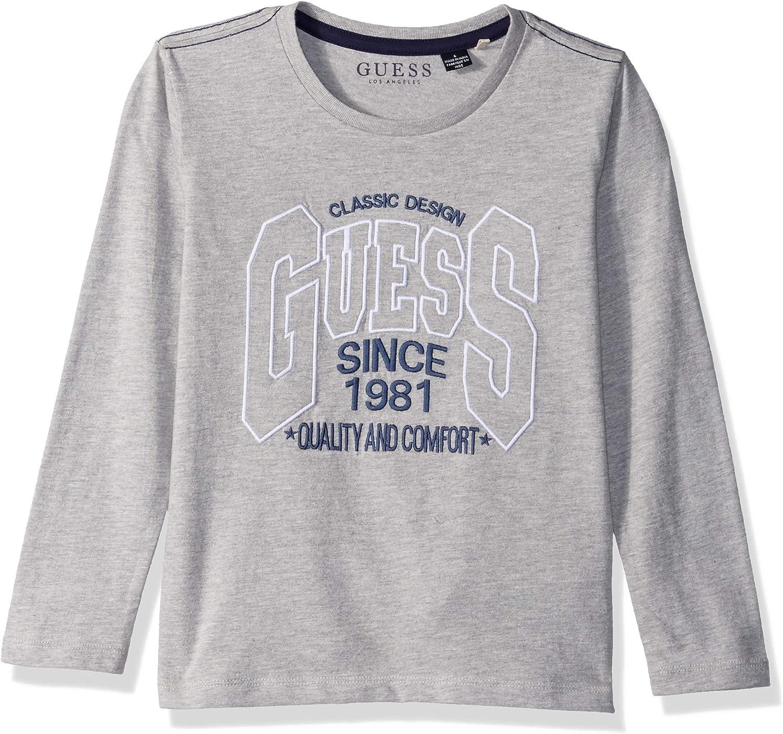 GUESS Boys Little Long Sleeve Logo T-Shirt
